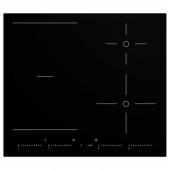 УТРУЛИГ Индукционная панель/регулир зоны, черный, 58 см