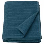 ВОГШЁН Простыня банная, темно-синий, 100x150 см