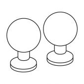 БАГГАНЭС Ручка мебельная, желтая медь, 20 мм