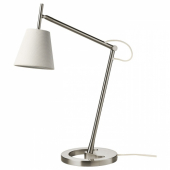 НИФОРС Лампа рабочая, никелированный белый