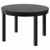 БЬЮРСТА Раздвижной стол, коричнево-чёрный, 115/166 см
