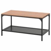ФЬЕЛЛЬБО Журнальный стол, черный, 90x46 см