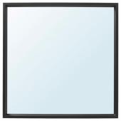 НИССЕДАЛЬ Зеркало, черный, 65x65 см