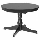 ИНГАТОРП Раздвижной стол, черный, 110/155 см