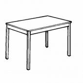 ИНГУ Стол, сосна, 120x75 см