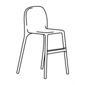 УРБАН Детский стул, белый
