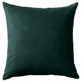 САНЕЛА Чехол на подушку, темно-зеленый, 50x50 см