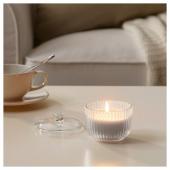 БЛОМДОРФ Ароматическая свеча в стакане, Гладиолус, серый, 9 см
