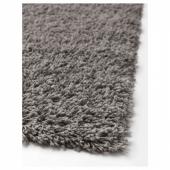 ХАМПЭН Ковер, длинный ворс, серый, 160x230 см