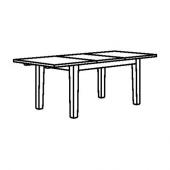 СТУРНЭС Раздвижной стол, коричнево-чёрный, 147/204x95 см
