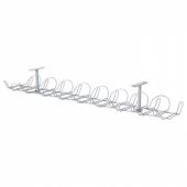 СИГНУМ Канал для кабеля горизонтальный, серебристый, 70 см