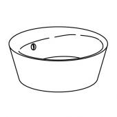 КАТТЕВИК Накладная раковина, серый, 40 см