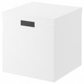 ТЬЕНА Коробка с крышкой, белый, 30x30x30 см