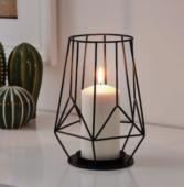 ПЭРЛЬБАНД Подсвечник для формовой свечи, черный21 см