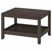 ХАВСТА Журнальный стол, темно-коричневый, 75x60 см