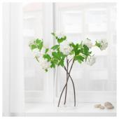 СМИККА Цветок искусственный, снежок, белый, 60 см