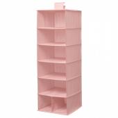 СТУК Модуль для хранения/7 отделений, розовый, 30x30x90 см