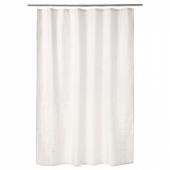 КЛОККАРЕН Штора для ванной, белый с оттенком, 180x200 см