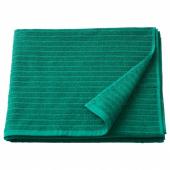 ВОГШЁН Банное полотенце, темно-зеленый, 70x140 см