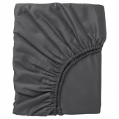 НАТТЭСМИН Простыня натяжная, темно-серый, 90x200 см