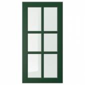 БУДБИН Стеклянная дверь, темно-зеленый, 40x80 см