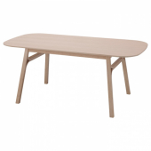 ВОКСЛЁВ Стол обеденный, светлый бамбук, 180x90 см