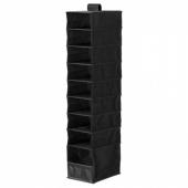 СКУББ Модуль для хранения с 9 отдл, черный, 22x34x120 см