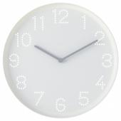 ТРОММА Настенные часы, белый, 25 см