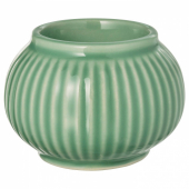 СТИЛРЕН Подсвечник для греющей свечи, зеленый, 6 см