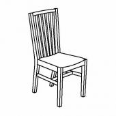 НОРНЭС Стул, белый, Гуннаред Исунда серый классический серый