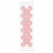 ВИНТЕР 2020 Дорожка настольная, орнамент «медальоны» белый/красный, 35x130 см