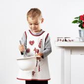 ВИНТЕР 2020 Фартук детский, орнамент «имбирное печенье» белый/коричневый, 2–4