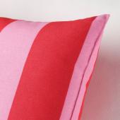 САРАКАЙСА Подушка, розовый/красный, в полоску, 30x58 см