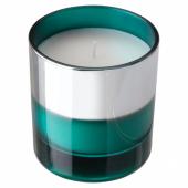 ХОПФОГА Ароматическая свеча в стакане, Летний, бирюзовый, 9.5 см