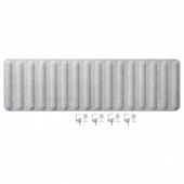 ЭЙЛИФ Экран д/письменного стола, серый, 160x48 см