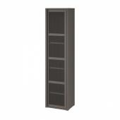ИВАР Шкаф с дверью, серый сетка, 40x160 см