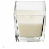 ФРАМФЭРД Ароматическая свеча в стакане, свежесть белья, белый, 8 см