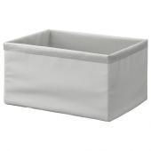 БАКСНА Органайзер, серый, белый, 26x34x18 см