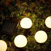 СОЛВИДЕН Подсветка н/солн батарее,светодиод, для сада, 5 стеблей белый