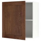 КНОКСХУЛЬТ Навесной шкаф с дверцей, под коричневый мореный ясень, 60x75 см