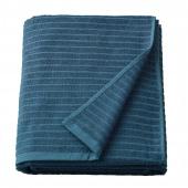 ВОГШЁН Простыня банная, синий, 100x150 см