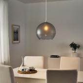 ЯКОБСБЮН Абажур для подвесн светильника, матовое стекло, серый, 30 см