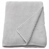 ИГАБРИТТА Плед, светло-серый, 130x170 см