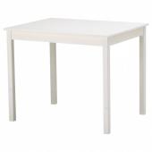 ОЛМСТАД Стол, белый, 90x70 см
