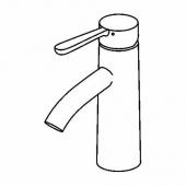 ДАЛЬШЕР Смеситель для раковины с выпуском, хромированный
