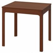 ЭКЕДАЛЕН Раздвижной стол, коричневый, 80/120x70 см