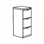 ЭРИК Шкаф для папок, черный, 41x104 см