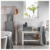 ГЭРЕН Простыня банная, классический серый, 100x150 см
