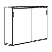 ГАЛАНТ Шкаф с раздвижными дверцами, дубовый шпон, беленый, 160x120 см