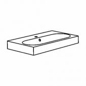 БРОВИКЕН Одинарная раковина, белый, 80x48x10 см